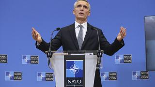 NATO Secretary General Jens Stoltenberg speaks during a news conference at the NATO headquarters in Brussels, Monday, March 22, 2021.