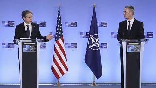 ABD Dışişleri Bakanı Antony Blinken, NATO Genel Sekreteri Jens Stoltenberg ile basına açıklama yaptı