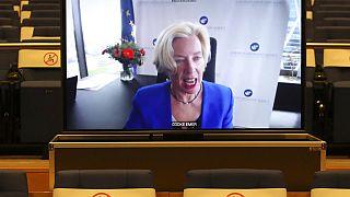 EMA-Chefin Emer Cooke bei einer Videokonferenz mit EU-Gesundheitsministern, 16.03.2021
