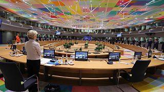 Brüksel'de Avrupa Konseyi binasında yapılan AB Zirvesi'nden
