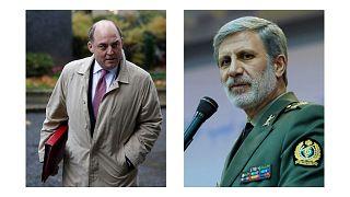 وزرای دفاع ایران و بریتانیا