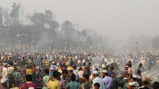 ویدئو؛ مصیبت آوارگان روهینگیا در آتشسوزی بنگلادش دو صد چندان شد