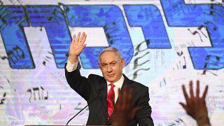 Benjamín Netanyahu en su primera aparición tras las elecciones