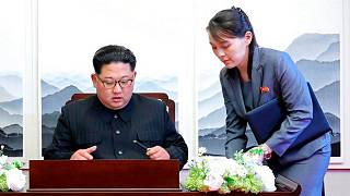 کیم جونگ اون در کنار خواهرش