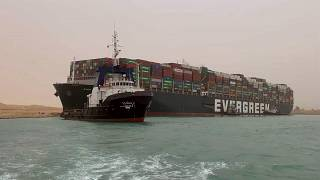 Massive cargo ship turns sideways, blocks Egypt's Suez Canal