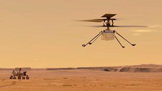 مدلسازی از هلیکوپتر ناسا بر روی مریخ