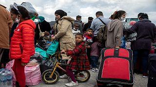 طالبو لجوء  في ميناء لافريو ، جنوب أثينا، 1 نوفمبر / تشرين الثاني 2020