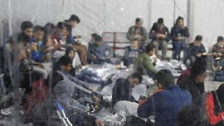 US authorities publish footage from migrant processing centre