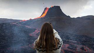 Begehrtes Foto vom Vulkanausbruch