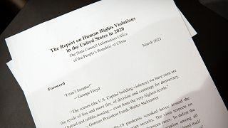 """Çin'in """"ABD'de insan hakları ihlalleri"""" başlıklı raporu"""