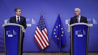 Conferência de imprensa de Antony Blinken e Josep Borrell