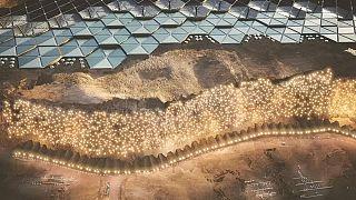 Nachhaltige Stadt auf dem Planeten Mars