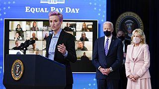 Megan Rapinoe à la Maison Blanche pour l'égalité salariale, 24 mars 2021