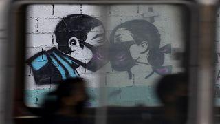 Mural visto desde un autobús en Caracas, Venezuela