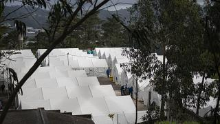 Las Raices camp in San Cristobal de la Laguna, in the Canary Island of Tenerife, Spain, Thursday, March 18, 2021.