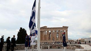 مراسم استقلال در آکروپولیس یونان