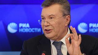 Виктор Янукович на пресс-конференции в Москве 6 февраля 2019