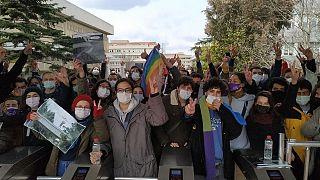 Boğaziçi Üniversitesi'nde gösteri