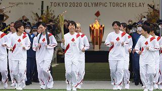 مراسم روشن کردن مشعل بازیهای المپیک ۲۰۲۱ ژاپن