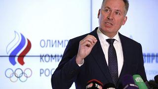 Глава Олимпийского комитета России Станислав Поздняков на пресс-конференции 25 марта