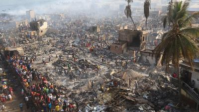 Thousands affected by fire in Sierra Leone slum, officials warn