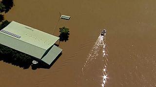 Vista aérea de una de las zonas inundadas en Australia.
