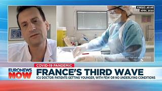 Benjamin Clouzeau, a doctor at the intensive care unit of Bordeaux Hospital, speaking to Euronews on March 23, 2021