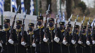 Военный парад в Афинах