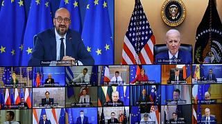 Charles MICHEL, President of the European Council, and Joe BIDEN, President of the United States of America