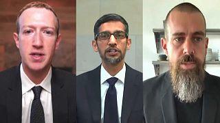 La désinformation en question au Capitole : Zuckerberg, Pichai et Dorsey étrillés par les élus
