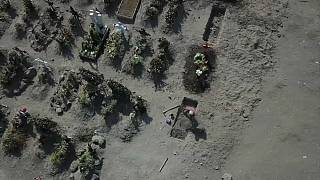 Cementerio en México (captura de pantalla)