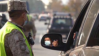 Controles policiales en Santiago de Chile