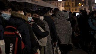 Migrant protest in Place de la République in Paris