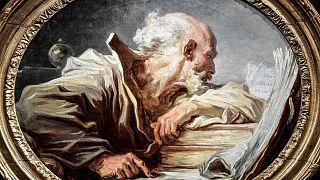 """لوحة """"فيلسوف يقرأ""""  لفراغونار عثر عليها بعد فقدان أثرها لـ200 عام"""
