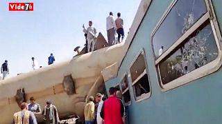 برخورد دو قطار در جنوب مصر