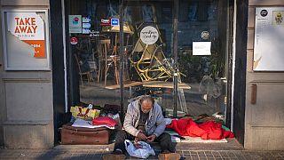 hajléktalan Spanyolországban