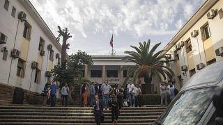 محامو الدفاع من أمام المحكمة الابتدائية بالدار البيضاء، المغرب