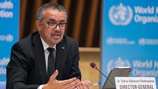 المدير العام لمنظمة الصحة العالمية تيدروس أدهانوم غيبريسوس.