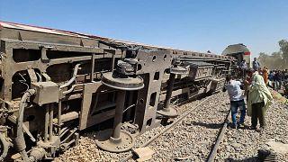 Mısır'da tren kazası