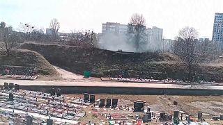 Das Krematorium in Kiew mit dem angeschlossenen Friedhof