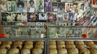Gedenkstätte für die Opfer in Ruanda