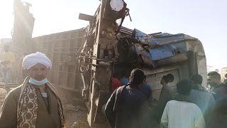 Unfallstelle in Sohag im Süden Ägyptens