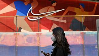 Nike üzlet portálja Pekingben