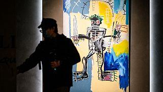 Jean-Michel Basquiat'nın Warrior adlı eseri