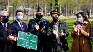 رونمایی از لوح یادبود احمد شاه مسعود در پاریس