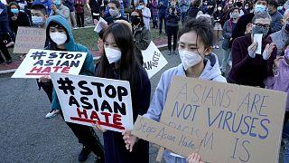 صدها نفر در پورتلند به افزایش خشونت علیه آسیایی تبارها اعتراض کردند