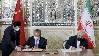 Çin Dışişleri Bakanı Wang Yi, İran Dışişleri Bakanı Muhammed Cevad Zarif / Tahran