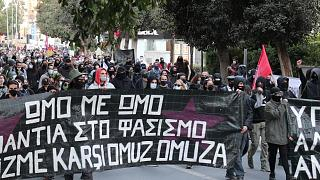 مظاهرات ضد الحكومة القبرصية