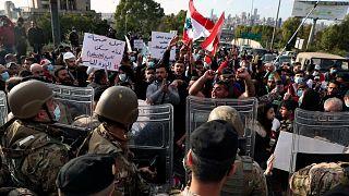 مواجهات بين المتظاهرين وقوات الأمن اللبناني