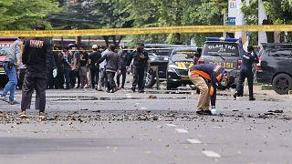 حمله به مراسم یکشنبه نخل در یک کلیسا در اندونزی